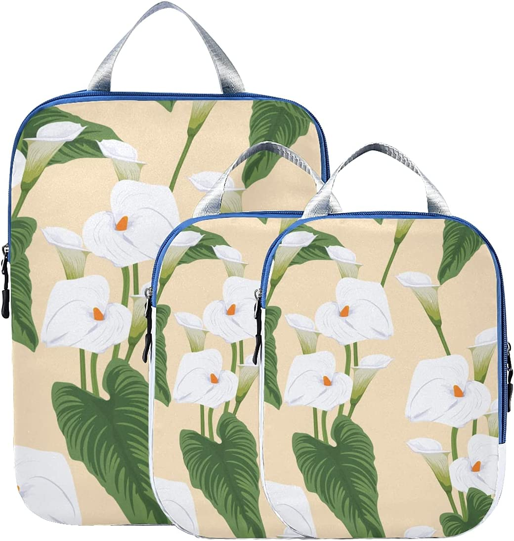 Packing Popularity Bags For Travel Elegant Calla Lily Ba Fashionable Max 40% OFF