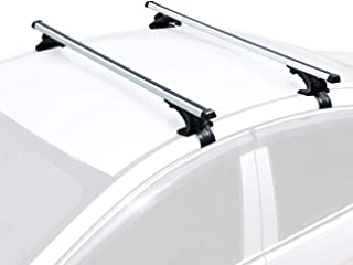 """AUXMART 48"""" Roof Rack System for Cars Without Rails (Bare Roof) - Aluminum"""