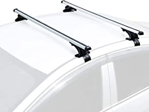 "AUXMART Universal Roof Rack Crossbars Width Less Than 48"" Adjustable for Most Vehicle Wagon Car Without Roof Side Rail (Pack of 2) 150LBS /68KG Capacity"
