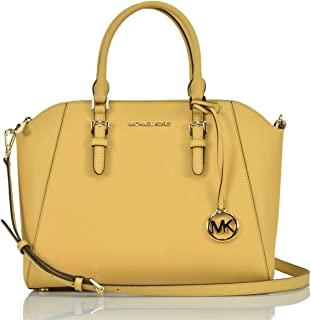 Large Ciara Top Zip Womens Saffiano Leather Satchel