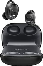 HAVIT Auricolari Bluetooth Senza Fili Auricolare Sport,Cuffie da Jogging con 60 Ore di Riproduzione, IPX5 Impermeabile con Microfono e Mini Scatola di Ricarica per Huawei Samsung, I93 Nero