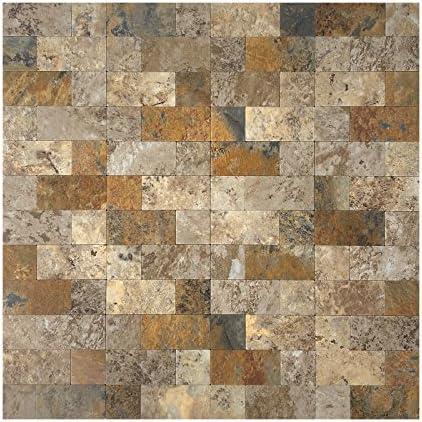 Art3d 12 x12 Peel and Stick Backsplash Tile for Kitchen Faux Stone Backsplash 5 Tiles product image