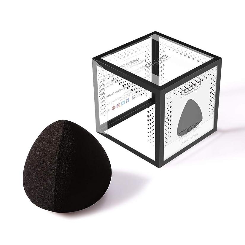 メダルマーケティングスクラップDocolor 多機能メイク用スポンジパフ (ブラック)