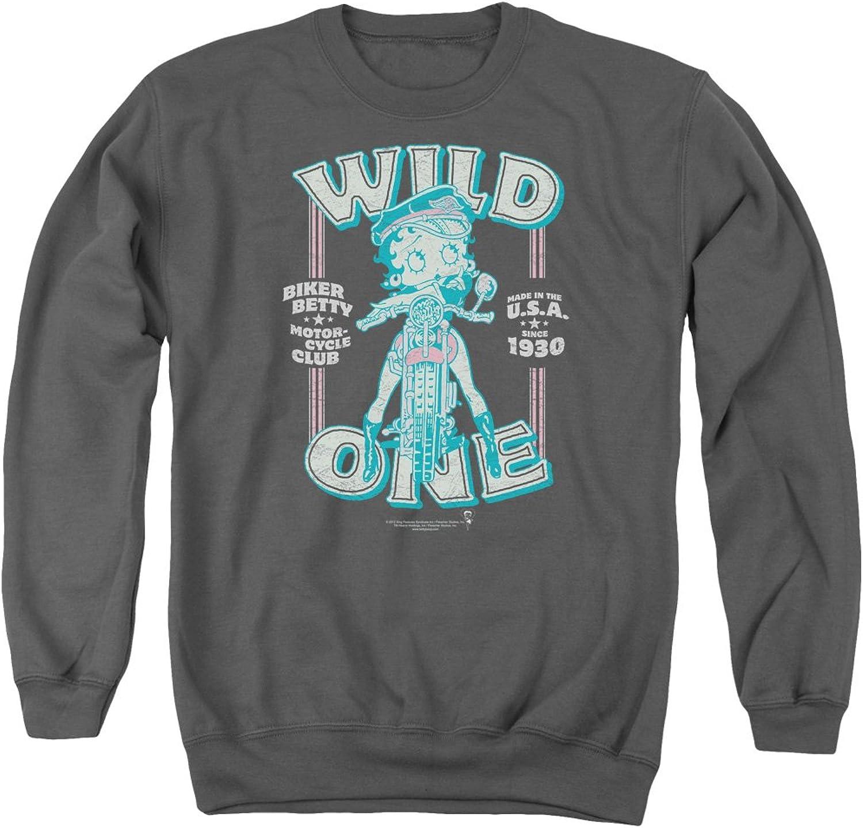 Betty 1930's Boop Cartoon American Icon Wild One Adult Crewneck Sweatshirt