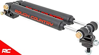 Rough Country 87308 Dual Steering Stabilizer (for 2.5-6.5-inch Lifts w/ Black Shocks - Select Years: Jeep Cherokee XJ, Comanche MJ, Wrangler TJ 4WD)