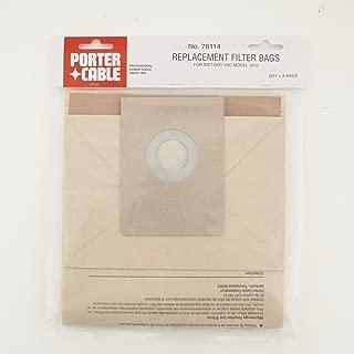 2-Ply, 5-Gal Vacuum Filter Bags for 7810 (3 Pk)