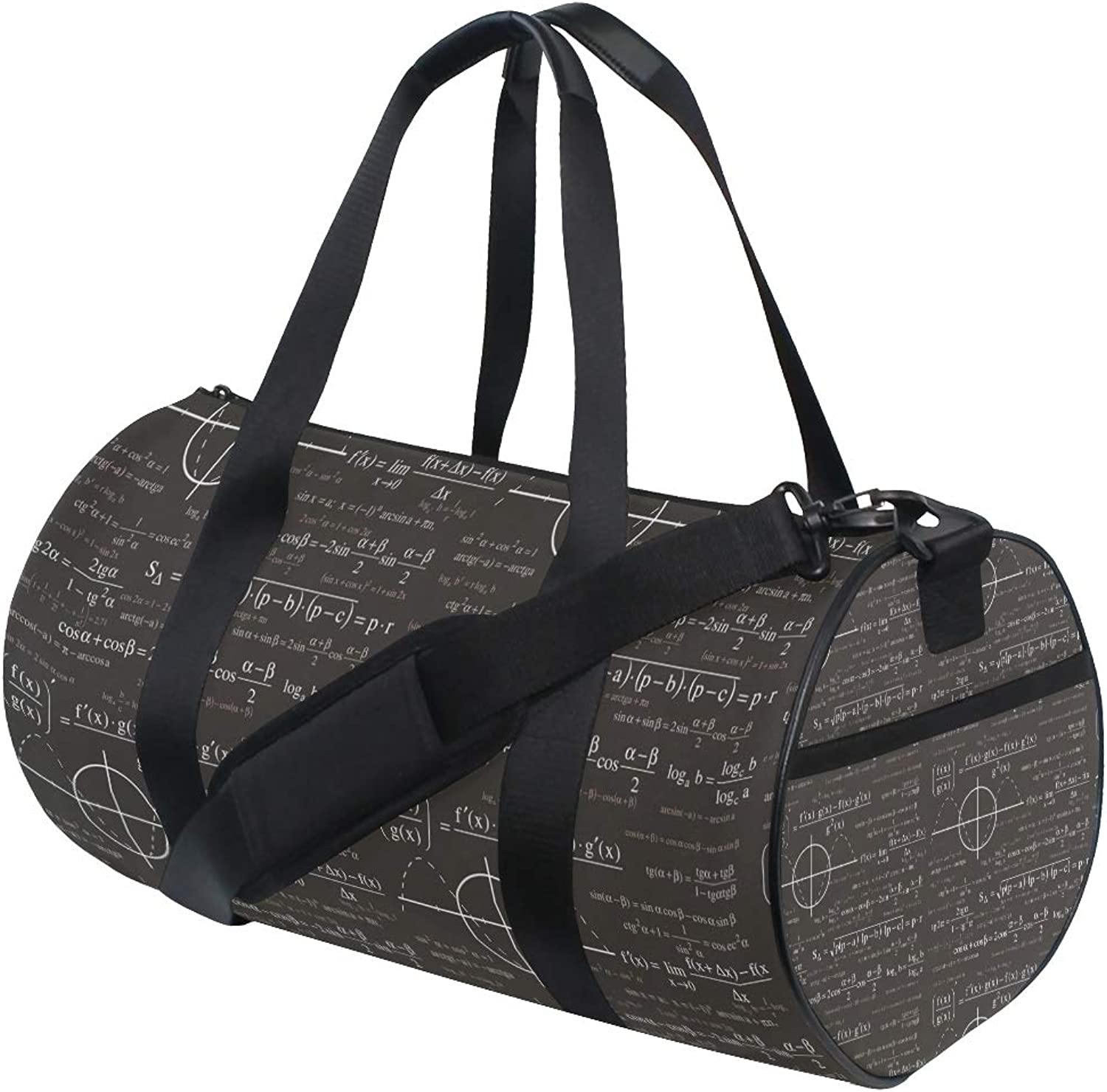 Russe Gym Bag Math Equations Energy with shoes Compartment Waterproof Travel Duffel Bag for Women and Men