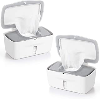OXO TOT Perfect Pull Baby Wipes Dispenser, Gray - Set of 2 Diaper Wipe Holders