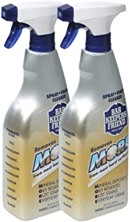 Bar Keepers Friend MORE Spray + Foam (25.4 oz) | Multipurpose Spray Cleanser and Rust Stain Remover | For Use on Countertops, Sinks, Bathtubs, Showers, Fixtures, Tile, and More (2)