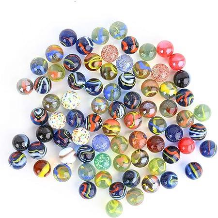 HAKACC - Biglie piccole in vetro, 430 g, per bambini, da 15 mm, per giocare o decorare