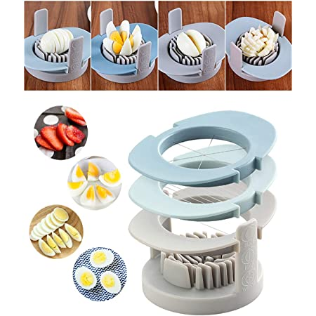 New Durable Use Multifunctional Egg Cutter Stainless Steel Cutting Egg Slicers#^