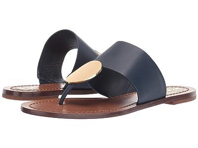 Tory Burch Patos Disk Sandal (Ink Navy/Gold) Women