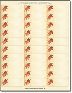 Fall Leaves Address Labels/Gift Tags - 120 Labels