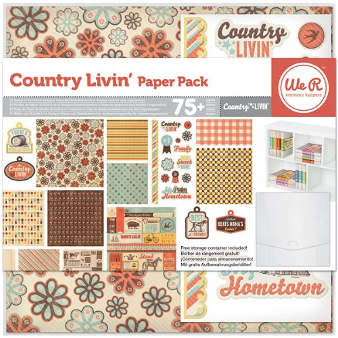 We R Memory Keepers Country Livin' Scrapbook Paper Pack