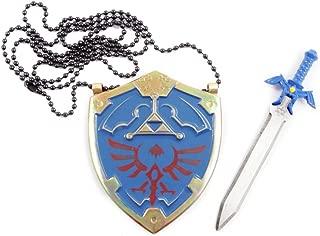 Legend of Zelda Master Sword Letter Opener and Hylian Shield Necklace