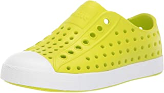 Native Kids Shoes Unisex Jefferson (Little Kid/Big Kid) Glo Green/Shell White 3 M US Little Kid