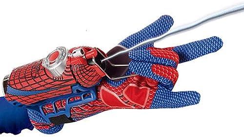 HYYSH Accessoires de Toilette pour Enfants extraordinaires Spider-Man pour Enfants 2 en 1 Spinning Water Spider Silky Launcher Toy Set (Conception   B)