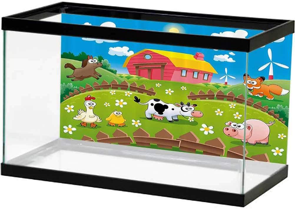 ScottDecor Cartoon Aquarium Background Farm 2021new shipping free shipping Chicken with Cow 5% OFF Fox