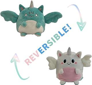 Omkeerbaar pluche, omkeerbaar pluche speelgoed kleine duivel/kleine engelvorm, omkeerbaar pluche speelgoed, dubbelzijdige ...