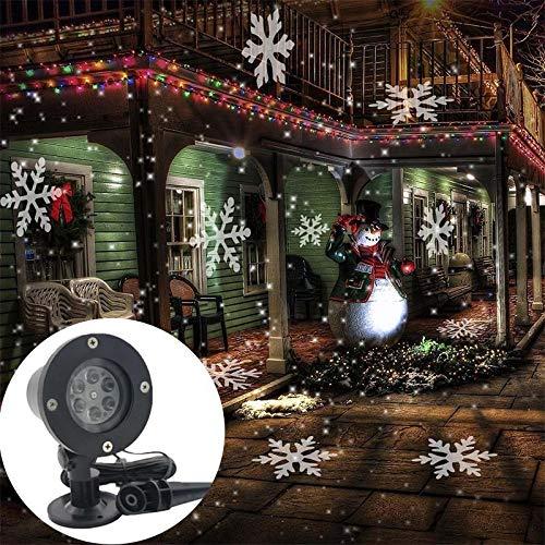 Luces de proyector LED de Copo de Nieve, lámpara de proyector LED Impermeable Nevadas Proyector Decoración romántica para Navidad, Halloween, Fiesta, Boda