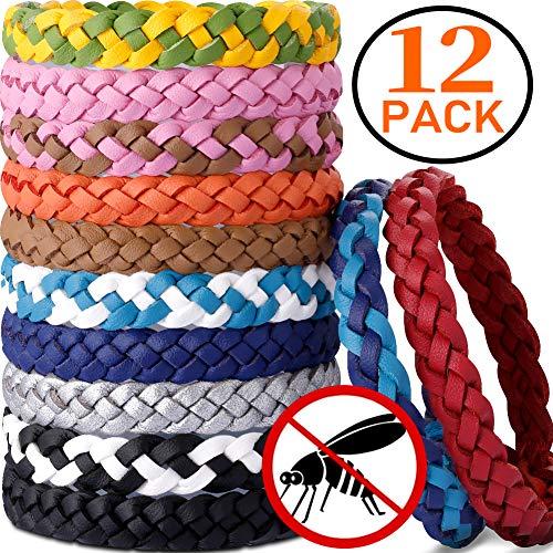 AYOUYA Mückenschutz Armband, 12 Stück Wiederverwendbar Insektenschutz-Armband Natürlich Öl Mückenschutz Anti Moskito Armband für Outdoor Indoor Kinder Erwachsene