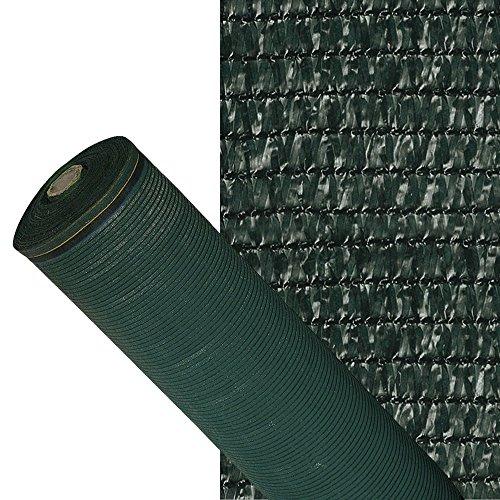 PAPILLON Malla Sombreo 90%, Rollo 1,5 x 100 metros, Reduce Radiación, Protección Jardín y Terraza, Regula Temperatura, Color Verde Oscuro