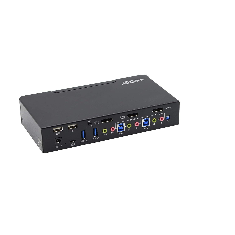 gofanco Prophecy Max 61% OFF 2-Port DisplayPort 1.2 – Switch 4K KVM USB Jacksonville Mall
