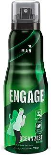 Engage Ocean Zest Deodorant for Men, Citrus and Aquatic, Skin Friendly, 150ml