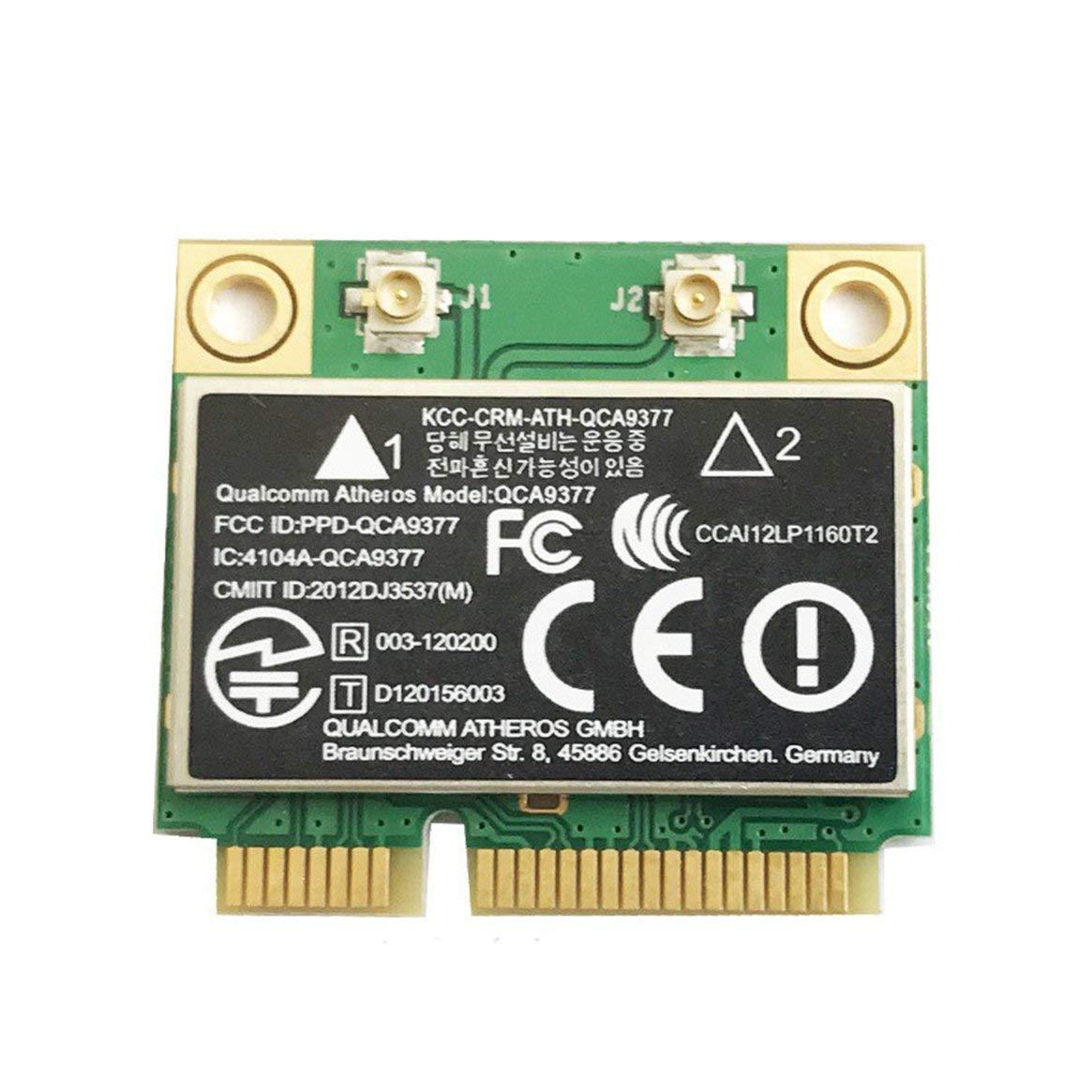 Atheros Qca9377ミニPci-eデュアルバンドAc Bluetooth 4.2ワイヤレスネットワークカードミニPci-e信号安定性(黒)