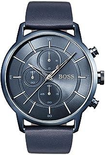 Hugo BOSS Unisex-Adult Chronograph Quartz Watch with Leather Strap 1513575