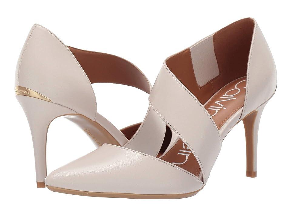 Calvin Klein Gella Pump (Soft White Leather) High Heels