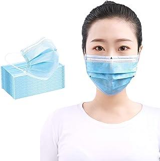 (在庫あり、50枚+1枚)成洋商社 マスク 使い捨てマスク 不織布マスク ウイルス PM2.5対策 花粉対策 飛沫防止 ほこり対策 三層構造 快適 通気性良し 大人用 男女兼用 (B-スカイブルー)