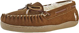 Polo Ralph Lauren Charlie Women's Suede Vegan Fur Lined Moccasin Slippers Shoes