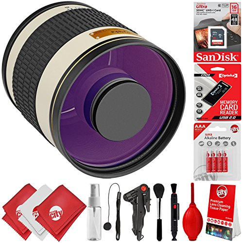 Opteka 500mm f/6.3 Manual Focus High Definition Telephoto Mirror Wild Life Lens for Canon EOS 80D, 77D, 70D, 60D, 7D, 6D, 5D, 7D Mark II, T7i, T6s, T6i, T6, T5i, T5, SL1 & SL2 Digital SLR Cameras -  Circuit City, circuitcity113877