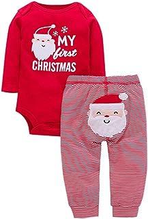 42f0220ae3eb3 Ouneed® 6-24 Mois Bebe Noel Deguisement Pere Noel Motifs Pyjama de de  Ensemble
