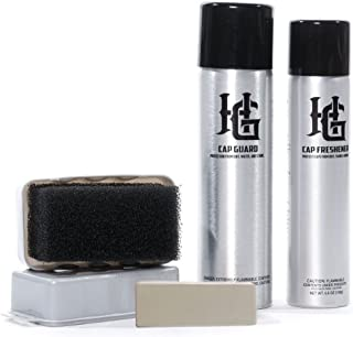 New Era and Hg Cleaning Gift Set, Spot and Stain Eraser, Brush, Cap Guard and Cap Freshener Cleaning Set Value Pack, 4 Piece