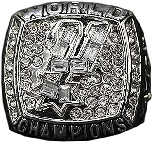 2003 Baloncesto San Antonio Spurs Team Champion Anillo Anillo De Hombre, Anillo De Campeón Anillos Deportes Lima Campeón Campeón Anillo De Souvenir, con Caja, 11#, with Box - 11#