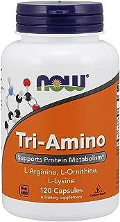 Now Supplements, Tri-Amino with L-Arginine, L-Ornithine, L-Lysine, 120 Capsules