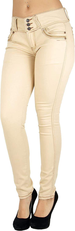 Women's Plus/Junior Size Butt Lift, Levanta Cola, Mid Waist, Skinny Jeans