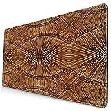 Bonita alfombrilla de ratón,Tribal Boho Bamboo Primitive Eastern Jagged Wood S,alfombrilla rectangular de goma antideslizante para escritorio,alfombrilla de escritorio para jugadores,15.8 'x29.5'