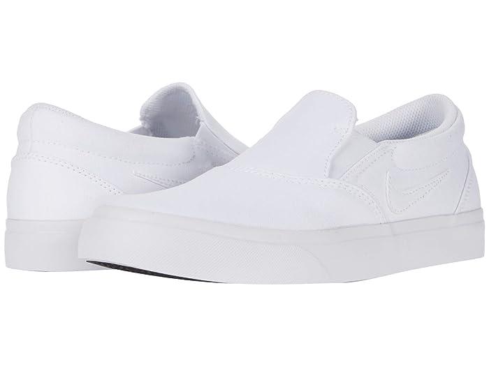 Nike SB Charge Canvas Slip (White/White