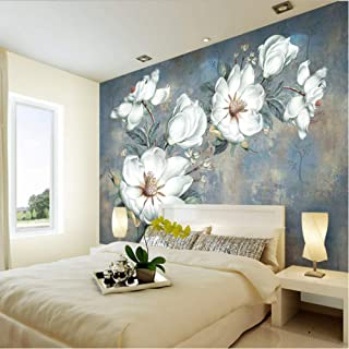 hhlwl 3D Wall Murals Wallpaper Waterproof Canvas Abstract Oil Painting Floral Mural Papel De Parede Wallpaper for Bedroom ...