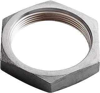 Merit Brass Stainless Steel 304 Cast Pipe Fitting, Hex Locknut, MSS SP-114, 1/2