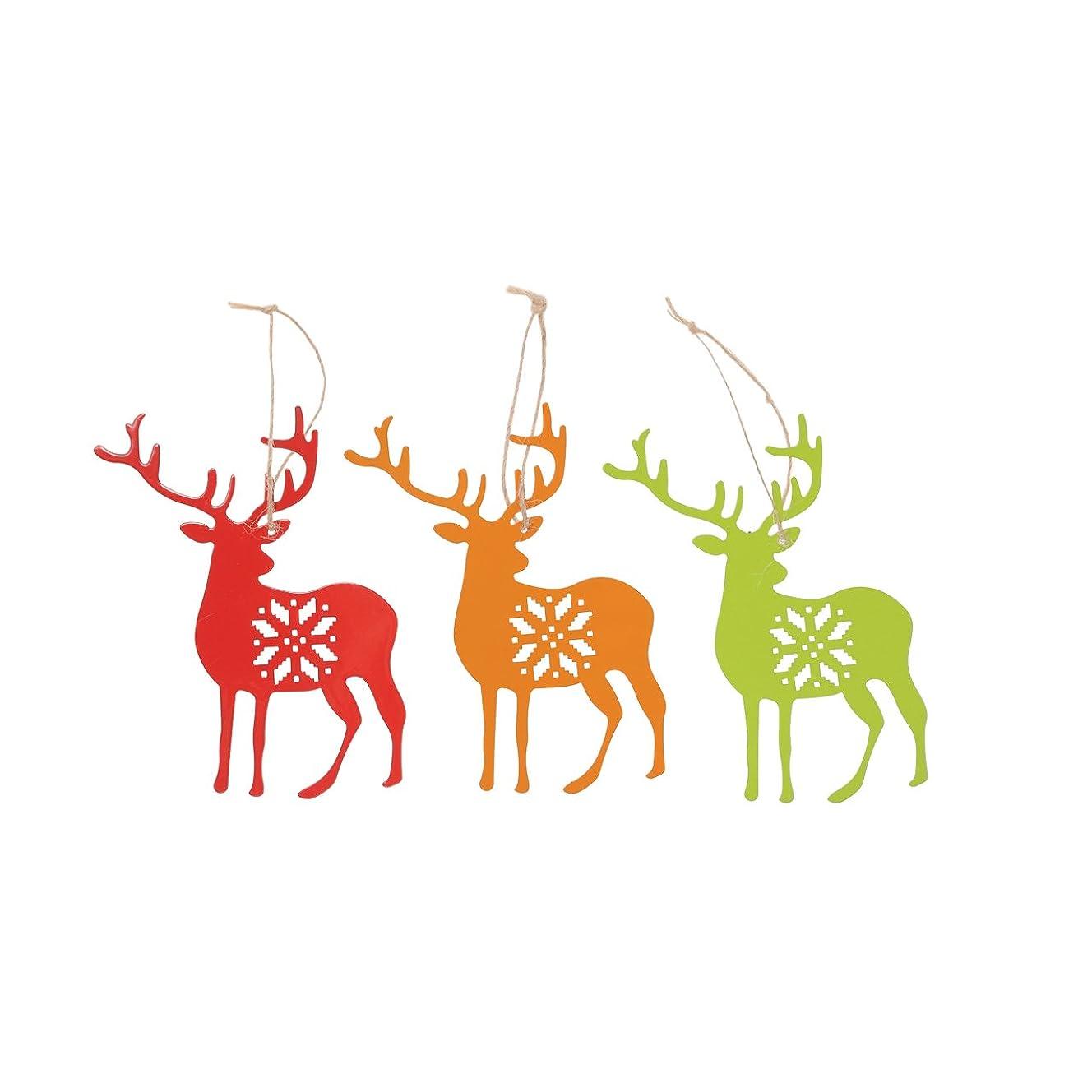 タイヤナプキン驚かす東京堂 クリスマス メタルレインディオーナメント (3コ入り) #レッド XO000105-003