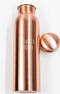 Modern Hobo 30oz Pure Copper Bottle of Water, Handmade in India