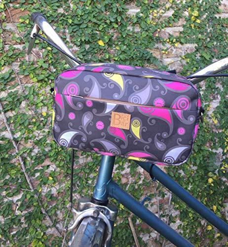 cotton canvas handlebar Palms Bicycle bag bike bag cycling bag bicycle accessories bicycle palms handlebar