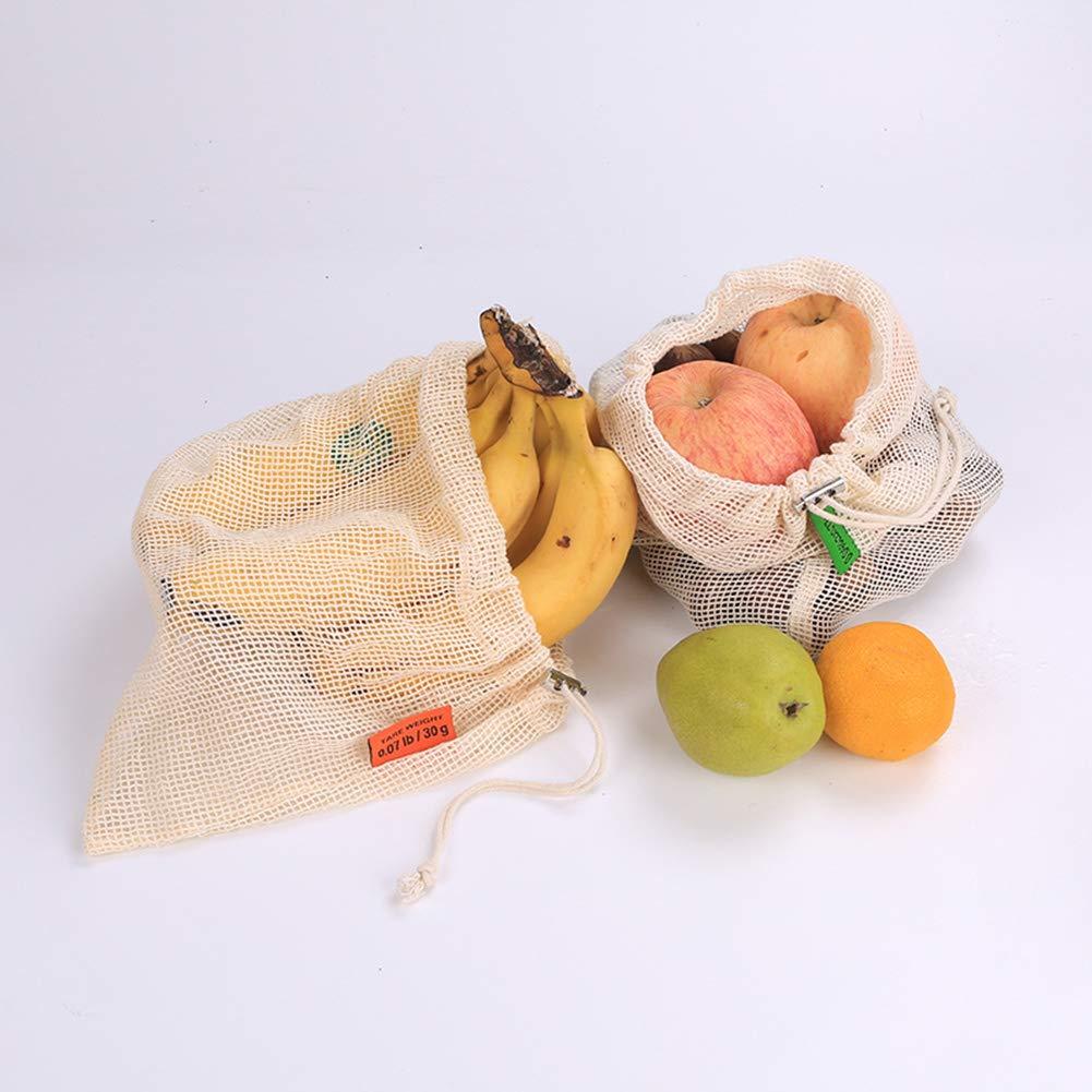 Bclaer72 Bolsas Reutilizables, 3 Bolsas de comestibles para Frutas ...