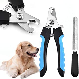 Dog Nail Clippers,Cat Nail Clipper,Pets Nail Clippers and Trimmers with Safety Guard to Avoid Over-Cutting Toenail for Sma...