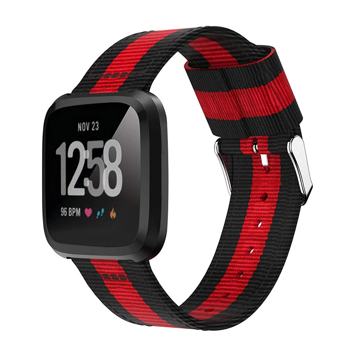 IOTdou Lightweight Nylon Adjustable Replacement Watch Band Sport Strap for Fitbit Versa Lite Simple Unisex Watch Band Sport Strap