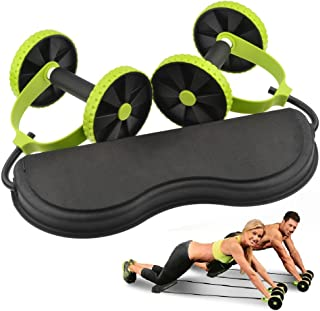 OrangeTag New Core Double Wheels Ab Roller Pull Rope Abdominal Waist Slimming abdominal exercise equipment
